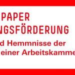 Chancen und Hemmnisse der Einrichtung einer Arbeitskammer in NRW
