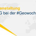 PCG bei der #Geowoche 2021